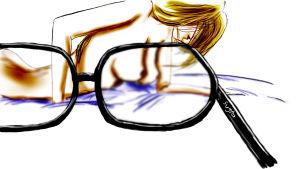 Mamie Binocles Couleur flou lunettes
